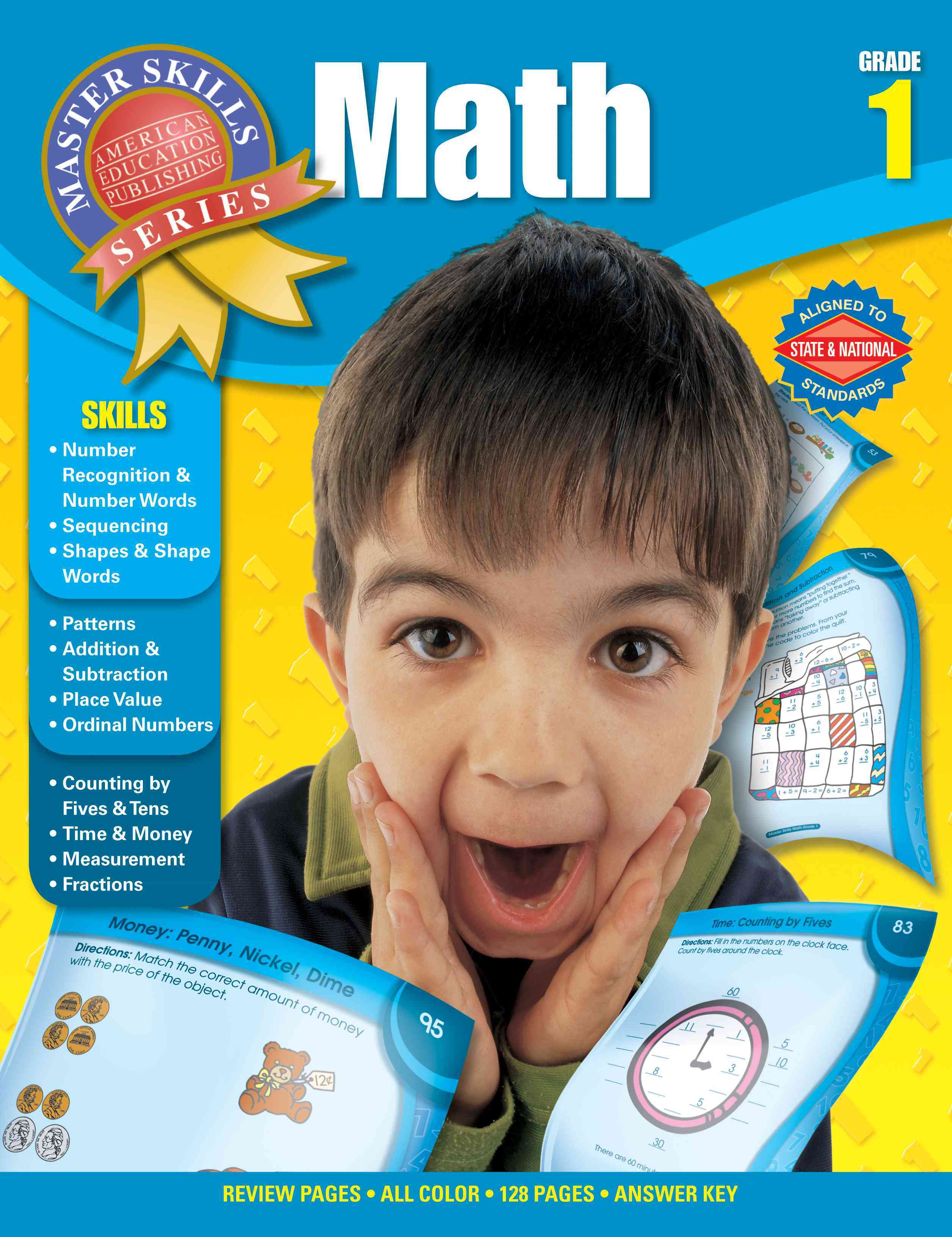 Math Grade 1 By Carson-dellosa Publishing (COM)/ American Education Publishing (COR)
